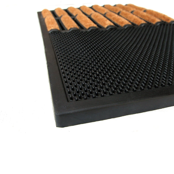 Brush Coir Entrance with Rubber Tray Mat - Best for high traffic entrance - Sanitisation Mat - OnlyMat