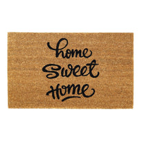"""Home Sweet Home"" Printed Natural Coir Floor Mat"