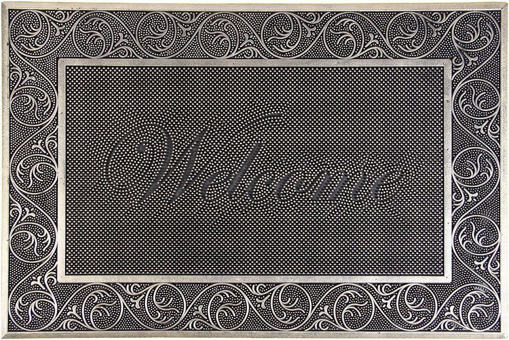 Welcome Acupressure Rubber Doormat
