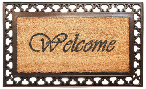 Copper and Brown Rubber Coir Doormat