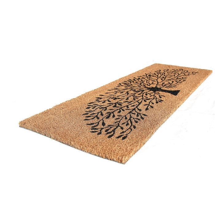 Tree Printed Natural Coir Doormat