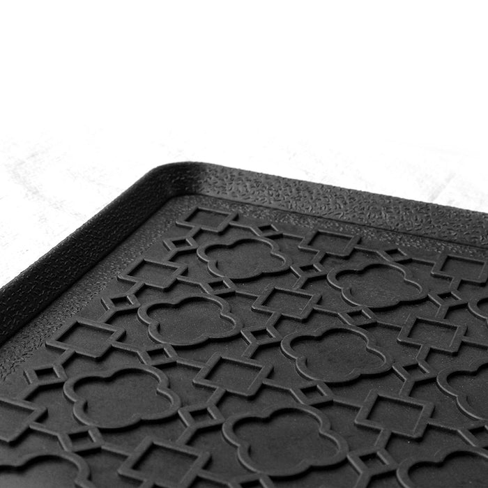 Elegant Black Rubber Boot Tray Mat for your Entrance - OnlyMat