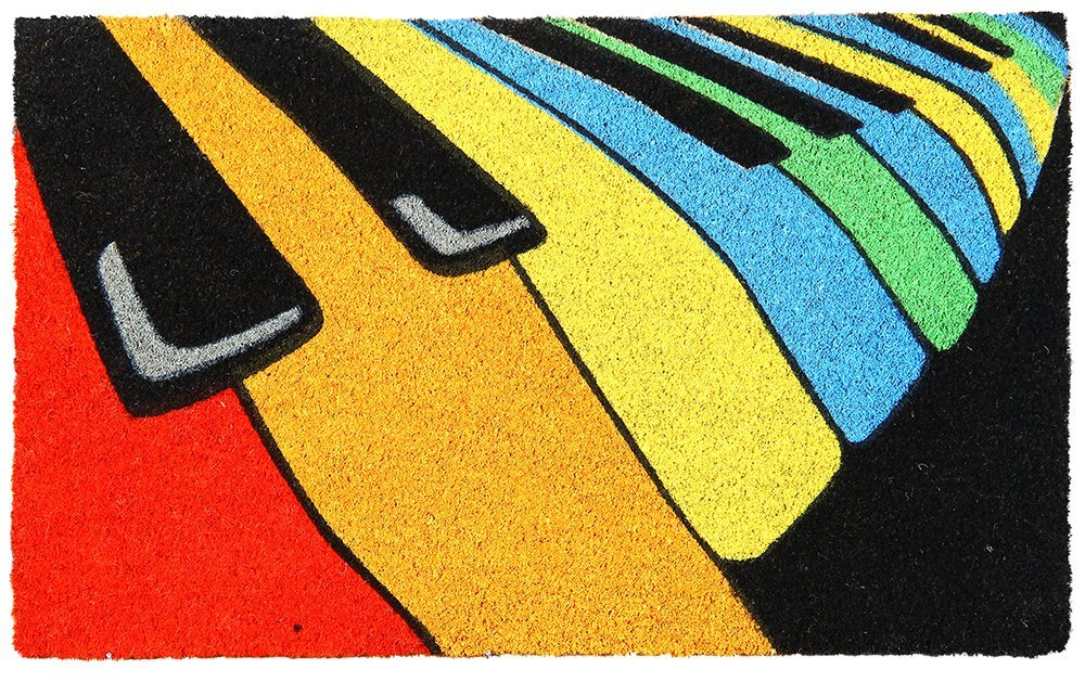 Piano Design Natural Coir Printed  Doormat - OnlyMat