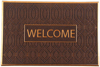 Brown Colour Rubber Pin Welcome Door Mat - OnlyMat