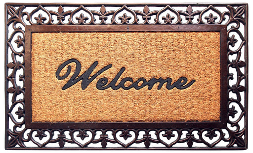 Brown Ecofriendly Rubber Coir Doormat