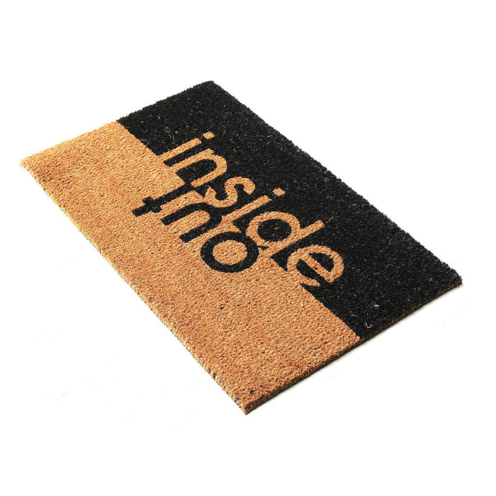Inside Out Design Natural Coir Doormat