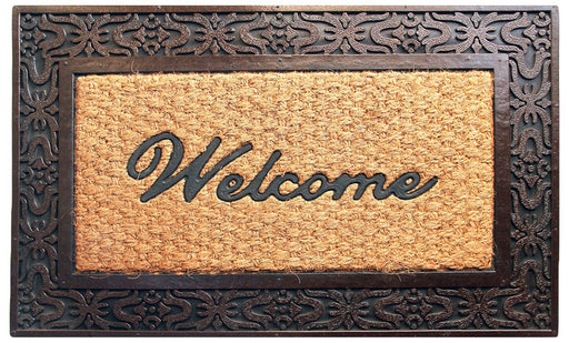 Latest Design Brown Color Rubber Coir Doormat