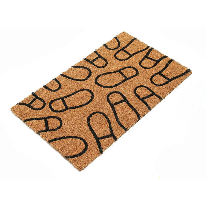Shoe Design Natural Coir Doormat