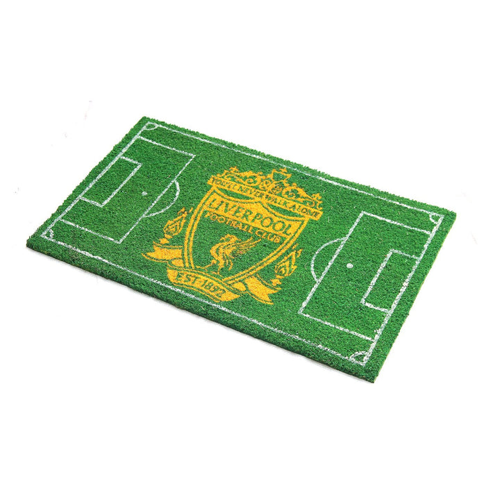 Liverpool FC Football Field printed Green Floor Mat - Official Licensed Product