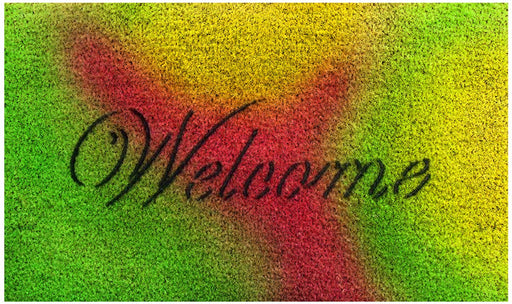 HOLI Special Welcome Printed Coir Doormat