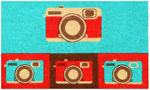 Retro Camera Design Coir Doormat