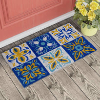 Colourful Design Printed Coir Floor Doormat - OnlyMat