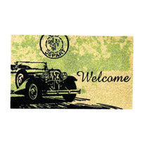 Vintage Car Printed Natural Coir Doormat - OnlyMat