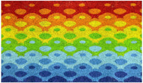 Colourful Multi Colour Holi Theme Natural Coir Floor Mat