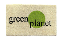 """Green Planet"" printed Natural Coir Anti-Slip Green Floor Mat"
