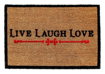 """LIVE LAUGH LOVE"" Printed Natural Coir Floor Mat - OnlyMat"