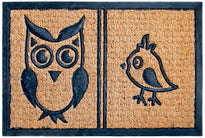 Owl and Bird Coir Rubber Doormat - OnlyMat