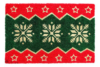 Red Green Natural Coir Designer Doormat - OnlyMat