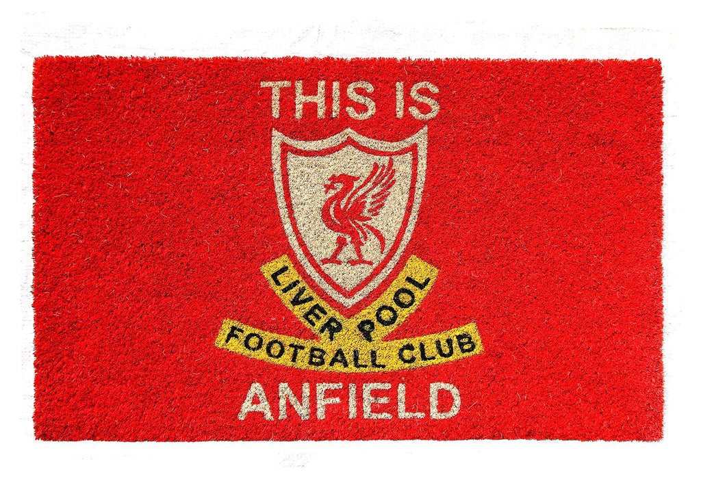 "Stylish Red Color ""This Liverpool Football Club Anfield"" Printed Floor Mat"