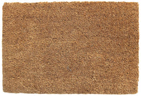 Plain Natural Coir Door Mat with Anti-Slip Backing - OnlyMat