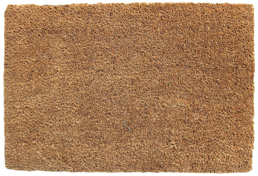 Plain Natural Coir Door Mat with Anti-Slip Backing