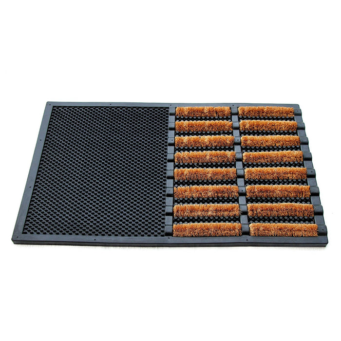 Cylindrical Wire Brush Natural Coir Entrance Door Mat - OnlyMat