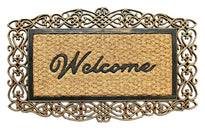 Rubber Backing Welcome Coir Doormat - OnlyMat