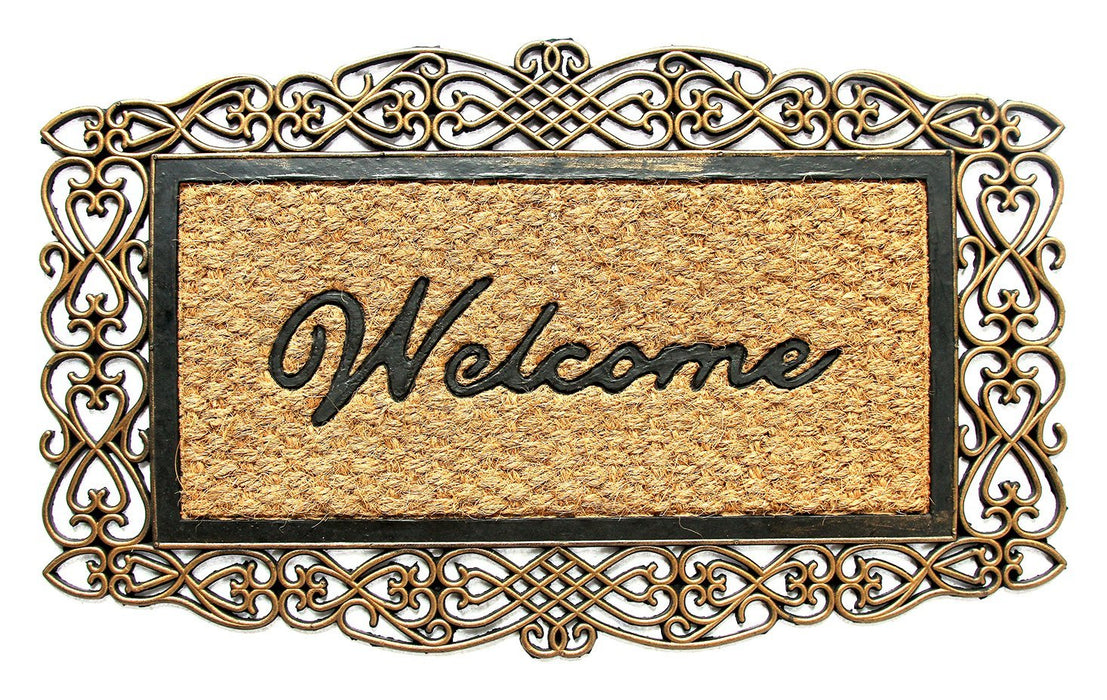 Rubber Backing Welcome Coir Doormat