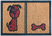 Dog and Bone Design Rubber Coir Doormat