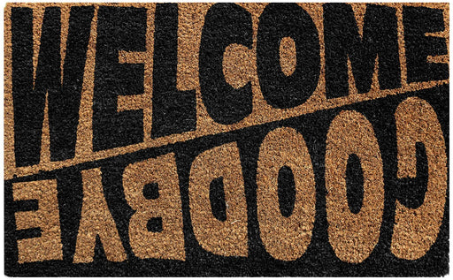 Welcome Goodbye Design Coir Doormat