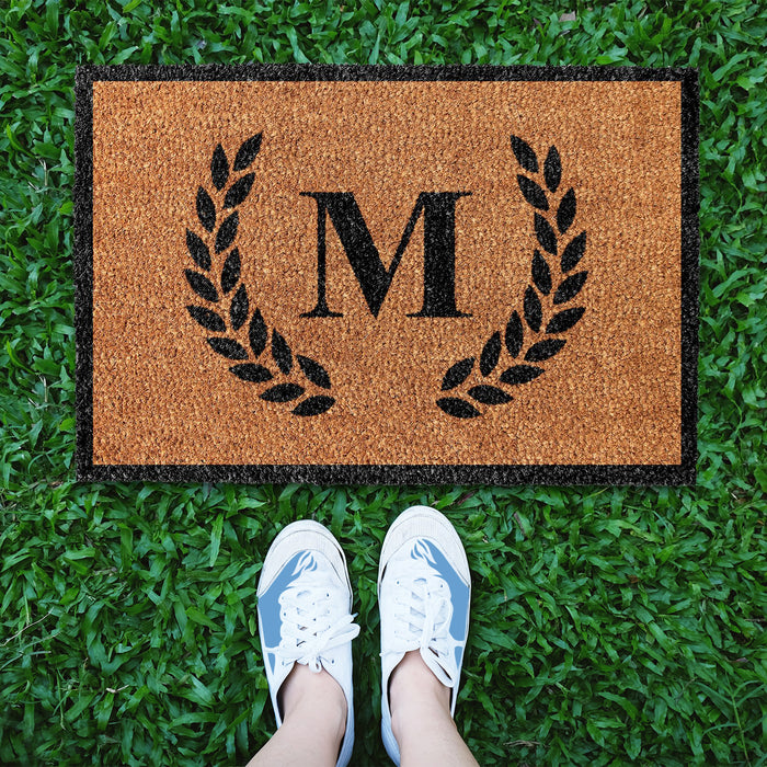 Farmhouse Floral Personalized Doormat (Design 2)