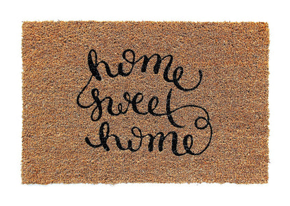 """Home Sweet Home"" Printed Natural Coir Door Mat - OnlyMat"