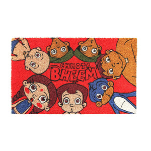 Stylish Red Chhota Bheem All Characters Kids Door Mat - OnlyMat