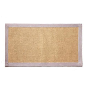 Jute Mat with Off-White Color Cotton Border - OnlyMat