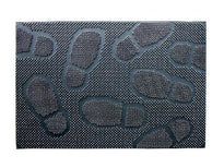 Lightweight Black Rubber Pin Foot Mark Design Floor Mat - OnlyMat