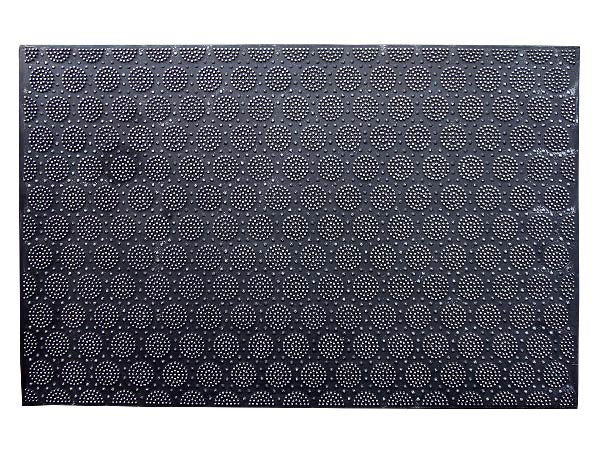 Lightweight Black Rubber Pin Mat with Round Designer Pattern