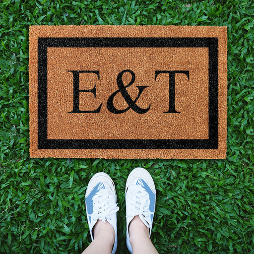 Personalized Doormat with Large Initials - Design 3 - OnlyMat