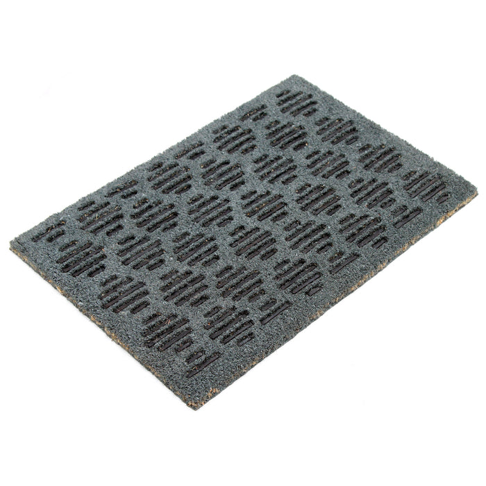 Pressed Design Natural Coir Doormat.