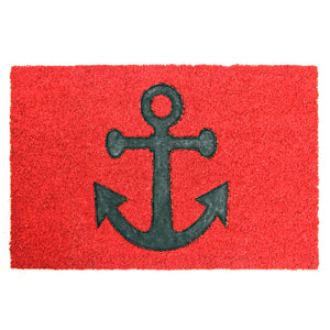 Pressed Anchor Design Natural Coir Doormat. - OnlyMat
