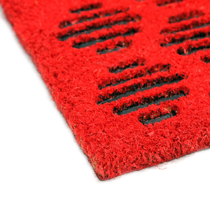 Pressed Design Natural Coir Doormat PVCIMP 00009