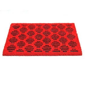 Pressed Design Natural Coir Doormat PVCIMP 00009 - OnlyMat