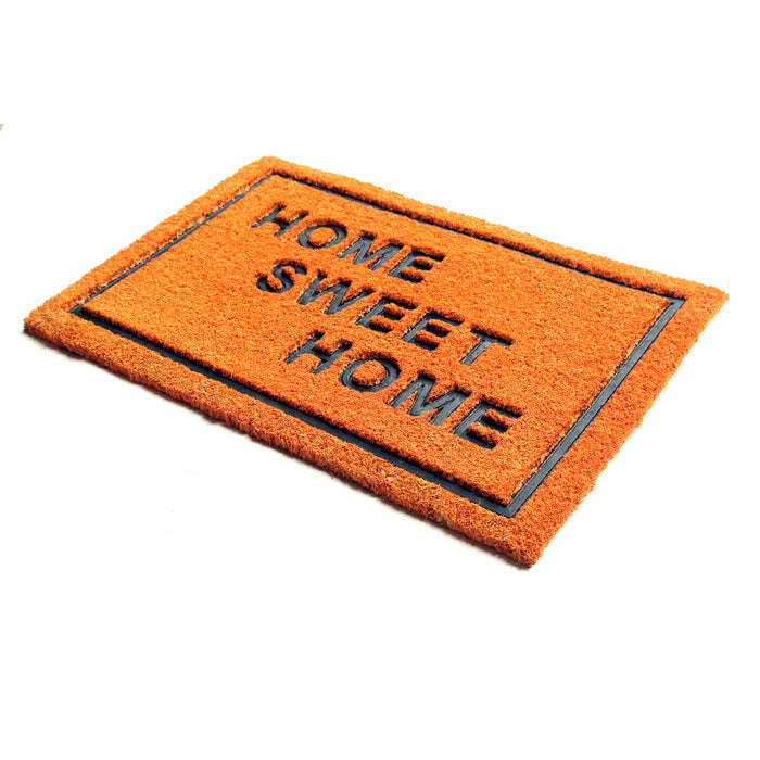 Pressed Home Sweet Home Design Natural Coir Doormat
