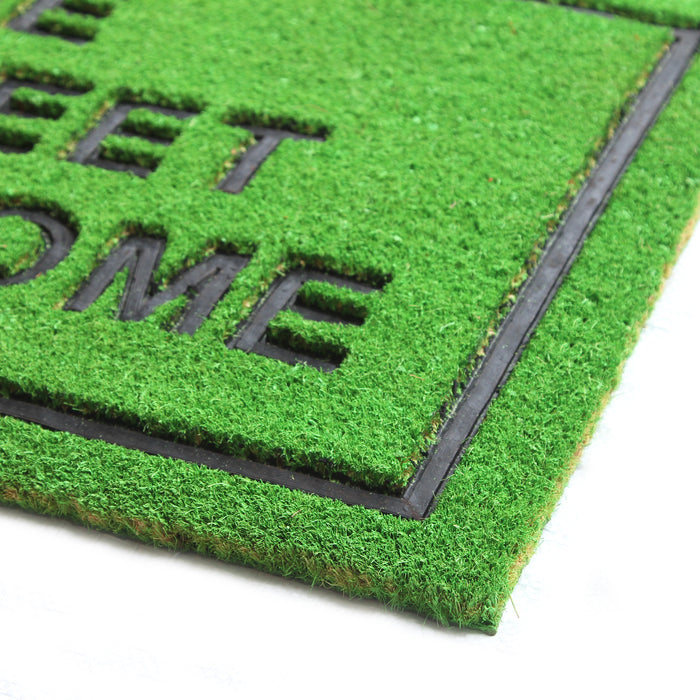 Pressed Design Natural Coir Doormat