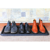 Elegant Black Rubber Boot Tray Mat for your Entrance