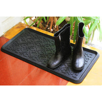 Black Elegant Rubber Boot tray Entrance Mat - OnlyMat
