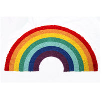 Colourful  LGBTQ Themed Oval Shape Natural Coir Floor Mat
