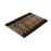 Elegant Black Natural Coir Door Mat with Designs - OnlyMat