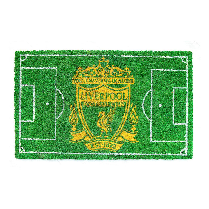 Liverpool FC Football Field printed Green Floor Mat