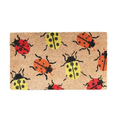 Bug Printed Natural Coir Doormat