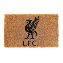 "Stylish Liverpool FC Logo ""L F C"" printed Natural Coir Doormat - OnlyMat"